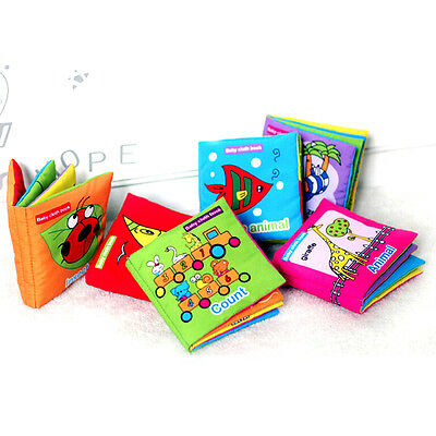 New Soft Cloth Baby Kid Intelligence Development Learn Picture Cognize Book Q22