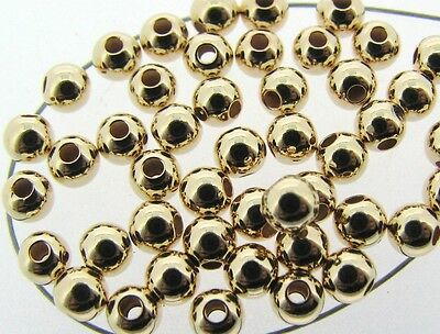 100  ea 14k ROSE GOLD FILLED 4mm SEAMLESS Round Beads