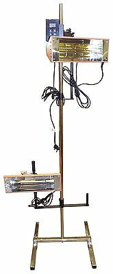 Twin 1.0Kw InfraRed Heater Car Bodywork Repair Paint Dryer/Stand + Digital Timer