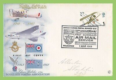 GB 1969 BFPS 50th Anniversary of 1st Scheduled Air Mail Service Commem Cover