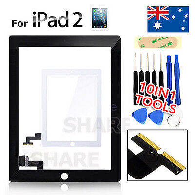 Touch Screen Digitizer Replacement For Apple iPad 2 Black / White