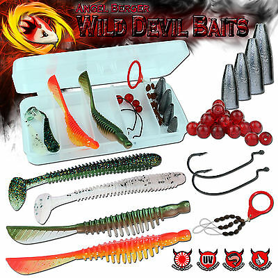 Wild Devil Baits Texas Carolina Rig Sortiment in Box