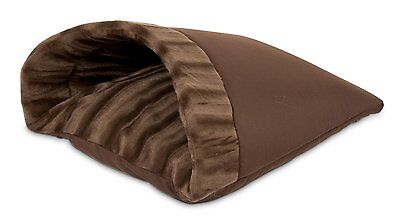 Petmate Kitty Cave Cat Pet Puppy Bed 16-Inch by 19-Inch, Chocolate Brown