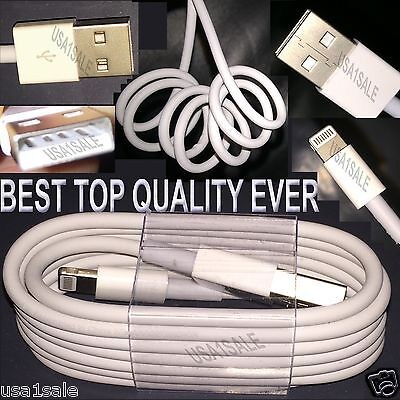 Highest Quality USB Cable Data Sync Charger Cord for Apple iPhone 5 5C 5S 6 Plus