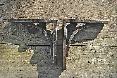 A Pair Of Small Solid Iron Industrial Arched Brackets Shelf Bracket Retro Cr12