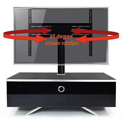 """MDA Designs CUBIC HYBRID Gloss Black TV Cabinet with TV Mount for up to 50"""" TVs"""