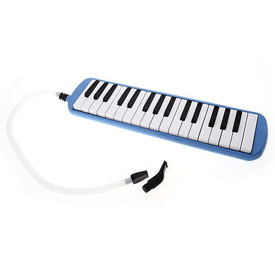 32 Key Plastic Melodica Keyboard Mouthpiece Bag Blue Gift for Students