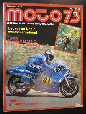 Moto 73 #76 20 aug 1982 (NL) poster LCR Yamaha #8 Streuer / Schnieders (NED)