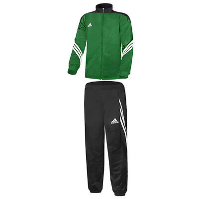Adidas Sereno 14 Polyesteranzug Trainingsanzug Green Black White F49714 Fussball