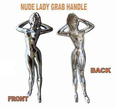 Nude Lady Chrome Grab Handle for Trucks & Trailers - Freightliner  Peterbilt  KW