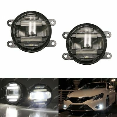 15W CREE LED Projector Fog Lamps w/Daytime Running Lights For Acura Honda Nissan