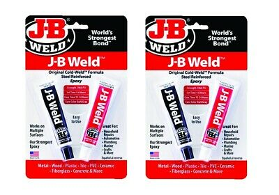 Set/2 J-B Weld 8265S Cold Weld Steel Reinforced Epoxy w/ Hardener, 2 part 1oz ea