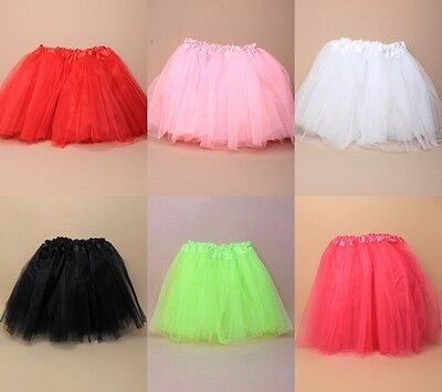 "Child's Net Tutu Triple Layer, 10-18"", Dance, Fancy Dress, Ballet, Party, Fairy"