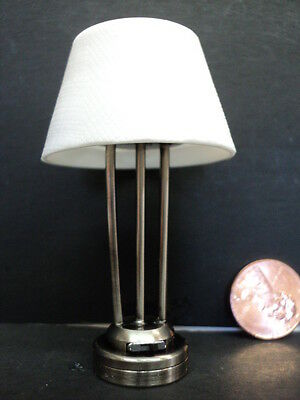 Dollhouse Battery Operated Table Lamp/ Platium Finish