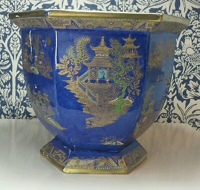 Large Carlton Ware Kang Hsi Chinoiserie Hexagonal Footed Jardiniere Pattern 2021