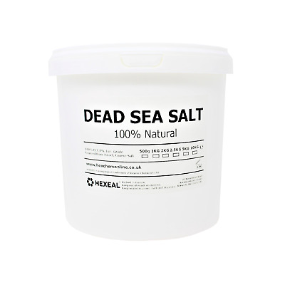 DEAD SEA SALT | 2.5KG BUCKET | 100% Natural | FCC Food Grade