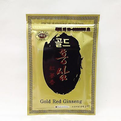 Gold Red Ginseng Patch Pads Tape Healthful Plaster Pain Relief 1 Pack = 20sheet