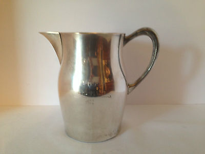 "PRO AM 1972 GOLF TROPHY Silver Plated Pub Style Pitcher by Sheridan 7 1/2"" Tall"