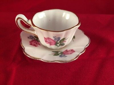 Royal Stuart England miniature tea cup and saucer bone china