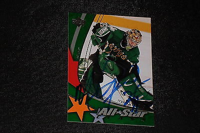 MARTY TURCO 2004-05 UPPER DECK ALL STAR SIGNED AUTOGRAPHED CARD #7 DALLAS STARS