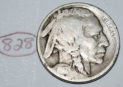 United States 1917  Buffalo Nickel USA Indian 5 Cents Coin Lot #828