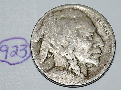 United States 1916 S Buffalo Nickel USA Indian 5 Cents Coin Lot #923