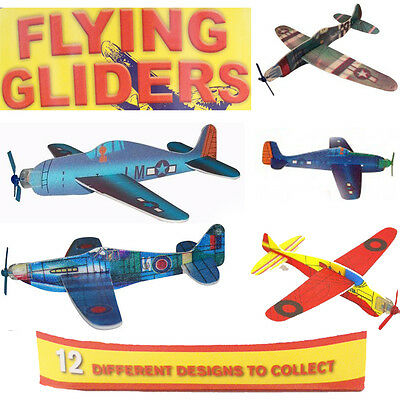 Flying Jet Gliders Fun Kids Party Bag Fillers Fighter Planes Toy Children Loot