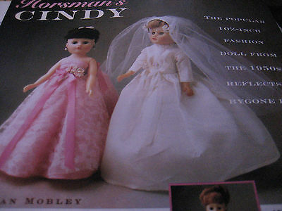 3pg Horsman's CINDY Doll History Article / 50's Fashion Doll / Susan Mobley  b1