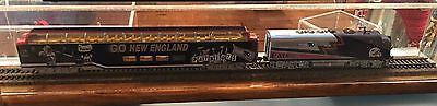 """18"""" HO Scale Train Display Case - Includes Track And Roadbed"""