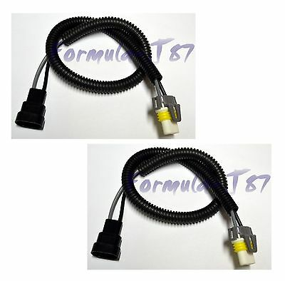 WIRE HALOGEN 20 INCHES LONG 9006 HB4 TWO HARNESS CERAMIC CONNECTOR FOG PLUG PLAY