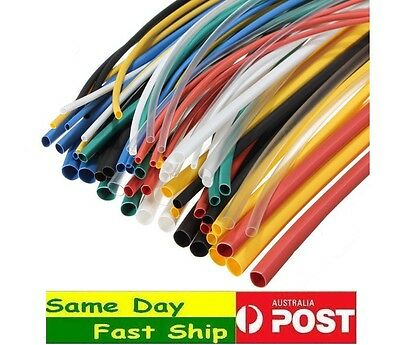 Tube Sleeving Heat Shrink Shrinkable Tubing Many Size 1M (10 x 10cm) AU Local
