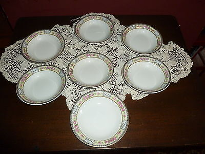 """7 W. H. Grindley China """"The Victory"""" Fruit Bowls! Lovely!"""