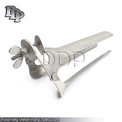 Polansky Veterinary Speculum Ranch Equine Instruments 27 CM 2 UP & 1 DOWN BLADES