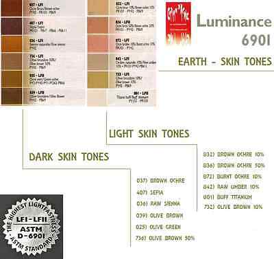 Caran D'Ache Luminance 6901 Skin Tones Selection  Highest Quality Artist Pencils