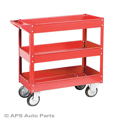 New Tool Cart Service Garage Utility Trolley 3 Tier Tool Caddy Tray Storage