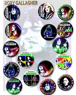 """Rory Gallagher/blues Guitar Legend/ 25 Mm/ 1 """" Fabulous Tribute Badge"""
