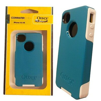 Brand New in box Otterbox Commuter Series Case For Apple iPhone 4 4S Teal White