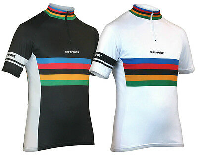Impsport Masters Classic Performance Black / White Cycling Jersey Mens & Ladies