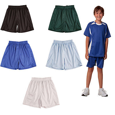 New Kids Boys Girls Unisex Sport Shorts Polyester Running Soccer Casual Training