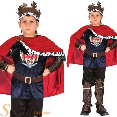 Boys Fantasy King Fairy Tale Prince Book Week Kids Fancy Dress Costume Outfit