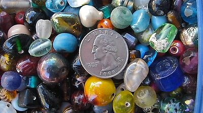 HUGE 3.5 lb. Glass bead lot All Large Beads 7-20mm! Quality & Variety - The BEST