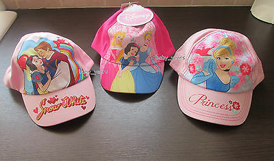a56de5ee51f54 Girls Disney Princess Baseball Cap Summer Holiday Hat Cinderella Snow White  New