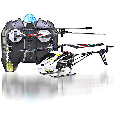 IR Soccer Copter 2C Germania Bianco, Elicottero 2-Canali con Gyro Starkid 69146