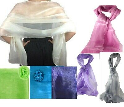 Scarf Shawl wrap chiffon ORGANZA METALLIC shimmer Wedding-bridal prom party lot