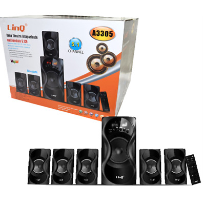 kit casse DOLBY surround 5.1 home theatre system sd usb rca radio fm Linq A3309