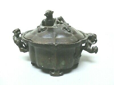 Chinese Bronze Incense Burner / Censer, Mythical Beast, Signed