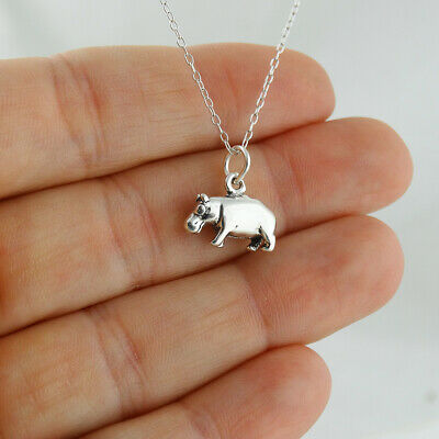 solid 925 sterling silver tiny pig charm pendant 9*7mm