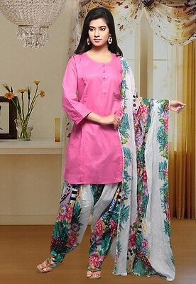 Pink Cotton Readymade Patiala Suit  SKD 0842 WOMEN CLOTHING EDH