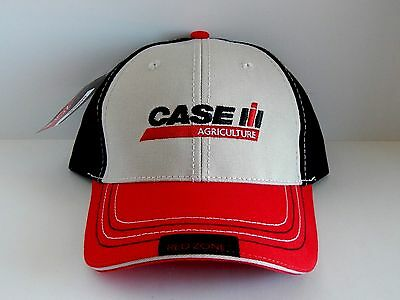 Case IH Black/Khaki/Red Farm Hand Red Zone Sandwich Cap
