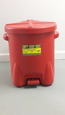 EAGLE 14 Gallon Polyethylene Oil Waste Container Used